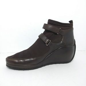 Stephane Kelian Paris Brown Ankle Leather Boots S7